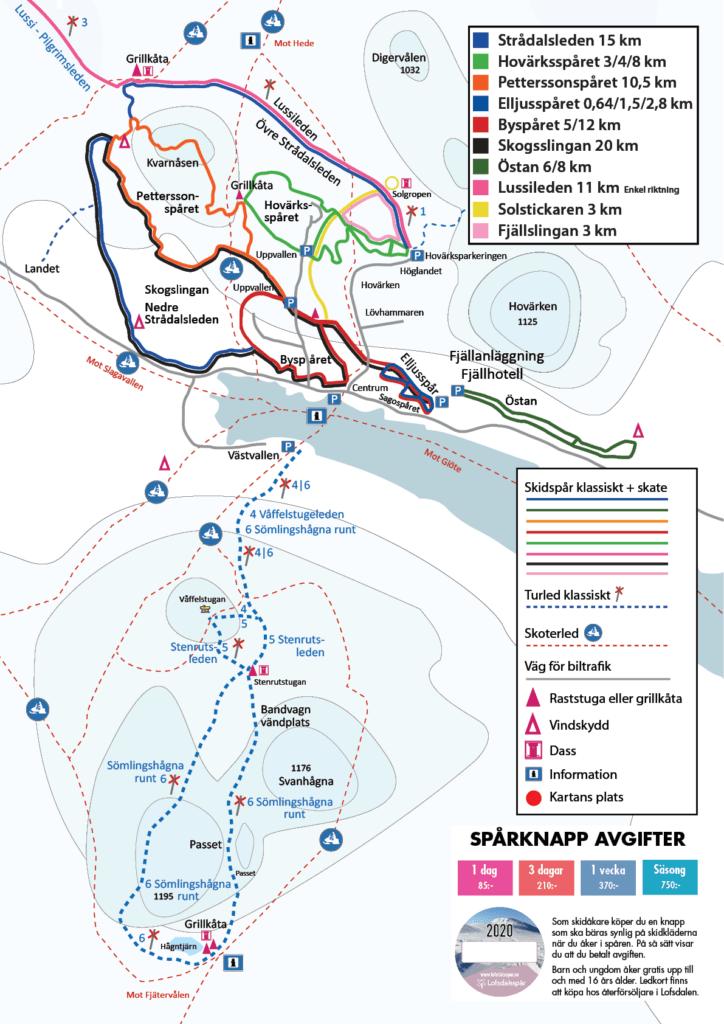Spårkarta Lofsdalsspår 2020